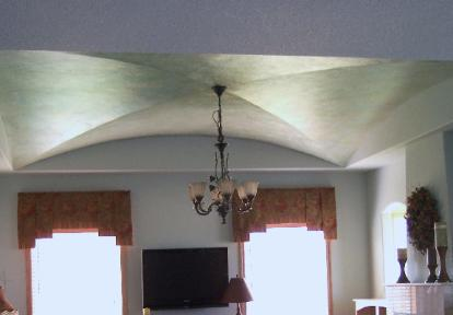 Great Room w/ Double Barrel Vaulted Ceiling